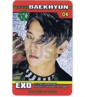 EXO - Carte transparente BAEKHYUN (THE POWER OF MUSIC)