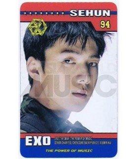 EXO - Carte transparente SEHUN (THE POWER OF MUSIC)