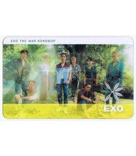 EXO - Carte transparente BAND (THE WAR) 002