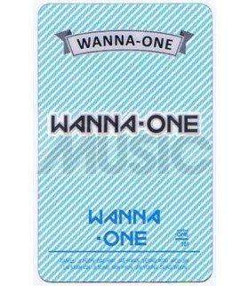 WANNA ONE - Carte transparente LOGO 001