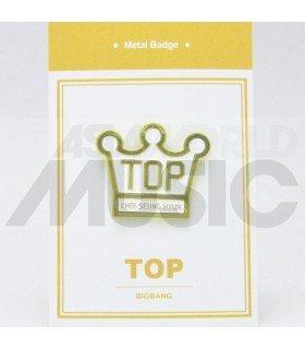 T.O.P (BIGBANG) - Pin's métal (Import Corée)