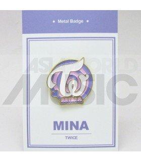 Mina (TWICE) - Pin's métal (Import Corée)
