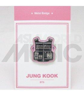 JUNGKOOK (BTS) - Pin's métal (Import Corée)