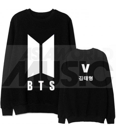 BTS - Sweat BTS NEW LOGO - V 김태형 (Black / Coupe unisexe)