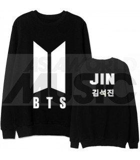 BTS - Sweat BTS NEW LOGO - JIN (Black / Coupe unisexe)