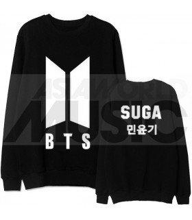 BTS - Sweat BTS NEW LOGO - SUGA (Black / Coupe unisexe)