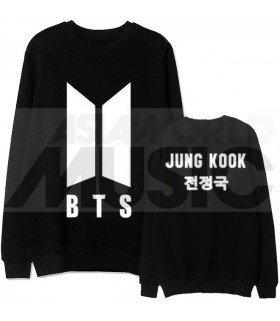 BTS - Sweat BTS NEW LOGO - JUNGKOOK (Black / Coupe unisexe)