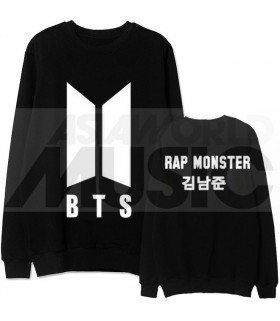 BTS - Sweat BTS NEW LOGO - RAP MONSTER (Black / Coupe unisexe)