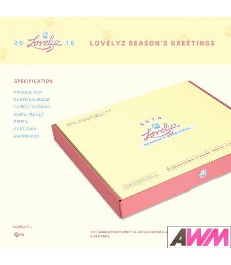 Lovelyz (러블리즈) 2018 Season's Greetings (Calendrier officiel) (édition coréenne)