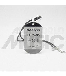 TAEYANG (BIGBANG) - Collier Plaque ID - TAEYANG