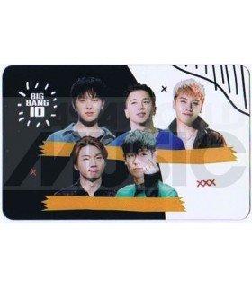 BIGBANG - Carte transparente BAND (BIGBANG 10 / TYPE A)