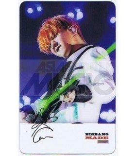 BIGBANG - Carte transparente G-DRAGON (LIVE CONCERT)
