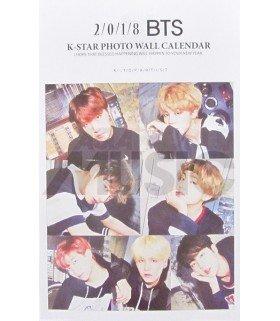 BTS - Calendrier Mural 2018 K-STAR (Type B)