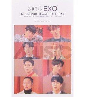 EXO - Calendrier Mural 2018 K-STAR (Type B)