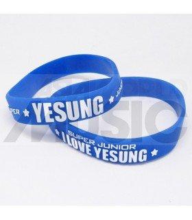Super Junior - Bracelet Fashion 3D - I LOVE YESUNG (BLUE / WHITE)