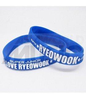 Super Junior - Bracelet Fashion 3D - I LOVE RYEOWOOK (BLUE / WHITE)