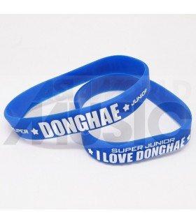 Super Junior - Bracelet Fashion 3D - I LOVE DONGHAE (BLUE / WHITE)