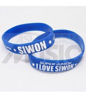 Super Junior - Bracelet Fashion 3D - I LOVE SIWON (BLUE / WHITE)