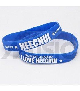 Super Junior - Bracelet Fashion 3D - I LOVE HEECHUL (BLUE / WHITE)