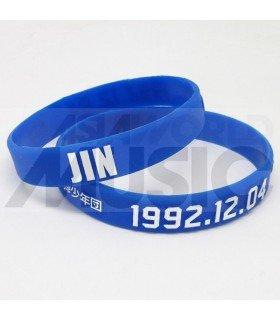 BTS - Bracelet Fashion 3D - JIN 1992.12.04 (BLUE / WHITE)