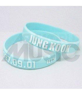 BTS - Bracelet Fashion 3D - JUNGKOOK 1997.09.01 (SKYBLUE / WHITE)