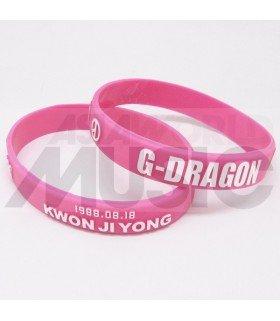 G-Dragon (BIGBANG) - Bracelet Fashion 3D - KWON JI YONG (PINK / WHITE)