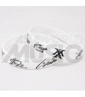 MONSTA X - Bracelet Fashion 3D - MONSTA X & SIGNATURE (BLACK / WHITE)