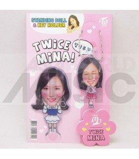Mina (TWICE) - Standing Doll & Porte-clé (Type B)