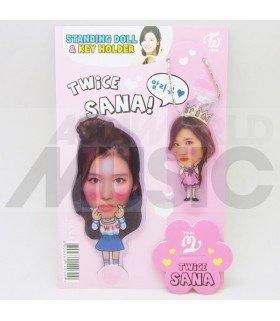 Sana (TWICE) - Standing Doll & Porte-clé (Type B)