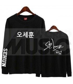 EXO - Sweat EXO SIGNATURE - SEHUN (Black / Coupe unisexe)