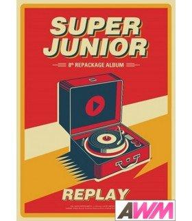 Super Junior (슈퍼주니어) Vol. 8 Repackage - REPLAY (édition coréenne)