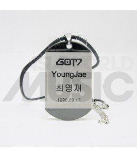 GOT7 - Collier Plaque ID - YOUNGJAE