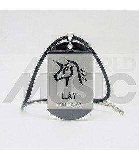 EXO - Collier Plaque ID - EXO Symbol LAY