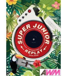 Super Junior (슈퍼주니어) Vol. 8 Repackage - REPLAY SPECIAL EDITION (Kihno Digital Album) (édition coréenne)