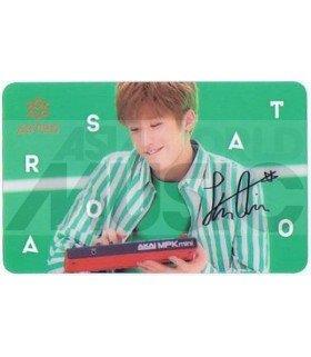 ASTRO - Carte transparente JIN JIN (LETTERS BAND / AUTOGRAPHED)