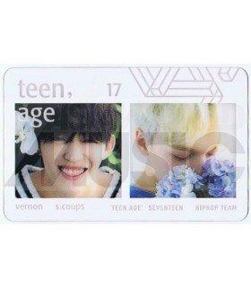 SEVENTEEN - Carte transparente VERNON X S.COUPS (TEEN, AGE / HIP HOP TEAM)