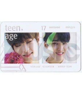 SEVENTEEN - Carte transparente WONWOO X MINGYU (TEEN, AGE / HIP HOP TEAM)