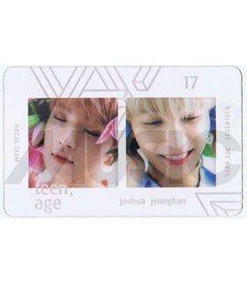 SEVENTEEN - Carte transparente JOSHUA X JEONGHAN (TEEN, AGE / VOCAL TEAM)