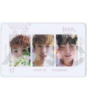 SEVENTEEN - Carte transparente WOOZI X DK X SEUNGKWAN (TEEN, AGE / VOCAL TEAM)