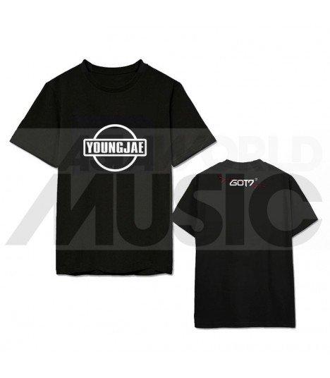 GOT7 - T-shirt EYES ON YOU - YOUNGJAE'S LOGO (Black / Coupe unisexe)