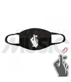 Masque Korean Heart Sign (Black)