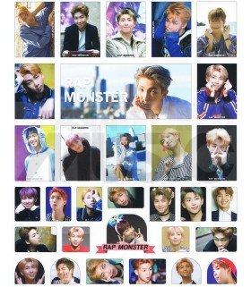 BTS - Set de stickers RAP MONSTER 002