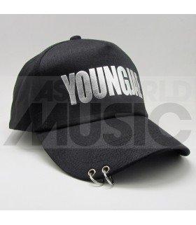 GOT7 - Casquette noire avec anneaux - YOUNGJAE