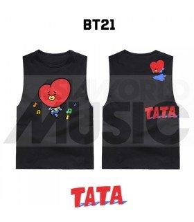 BTS - Débardeur BT21 - TATA (Black)