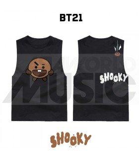 BTS - Débardeur BT21 - SHOOKY (Black)