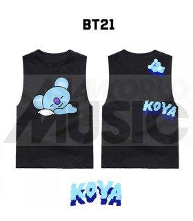 BTS - Débardeur BT21 - KOYA (Black)