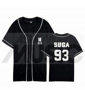 BTS - Maillot de baseball BANGTAN - SUGA 93 (BLACK)