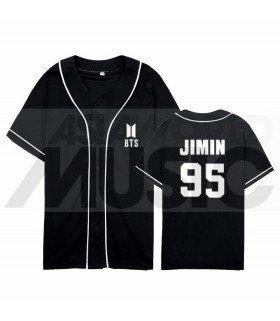 BTS - Maillot de baseball BANGTAN - JIMIN 95 (BLACK)