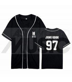 BTS - Maillot de baseball BANGTAN - JUNGKOOK 97 (BLACK)