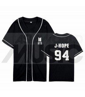 BTS - Maillot de baseball BANGTAN - J-HOPE 94 (BLACK)
